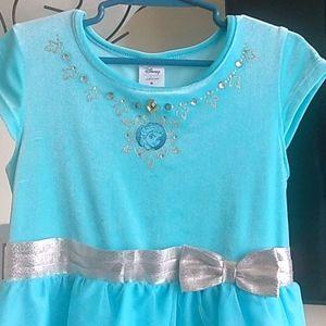 Disney Girls Frozen Elsa Short Sleeve Dress